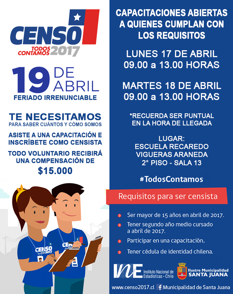 capacitaciones censo 17 y 18 abril